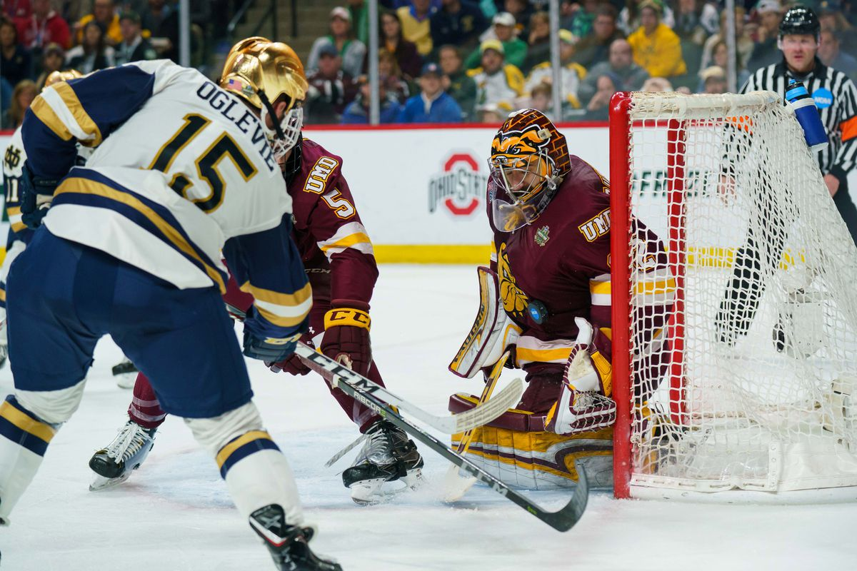 Sabres sign Notre Dame forward Andrew Oglevie to entry level