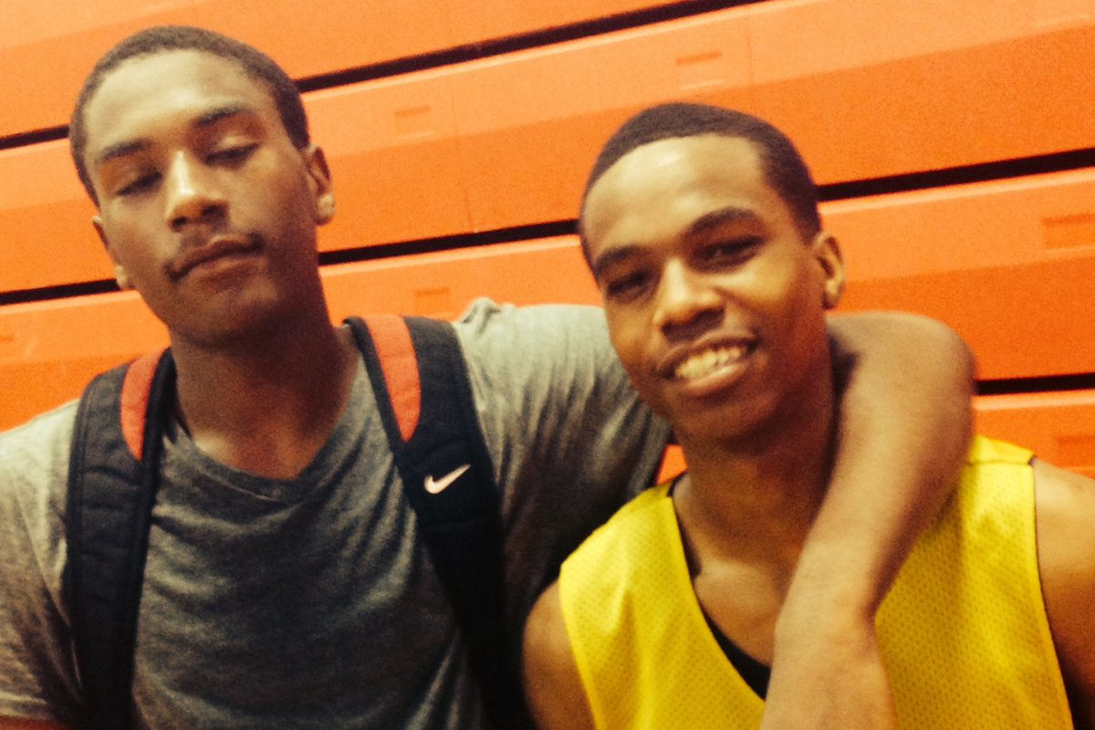 Briggs guards Rodney Willis (left) and Danny Corbett (right) look to take the Bruins to new heights in 2014-15
