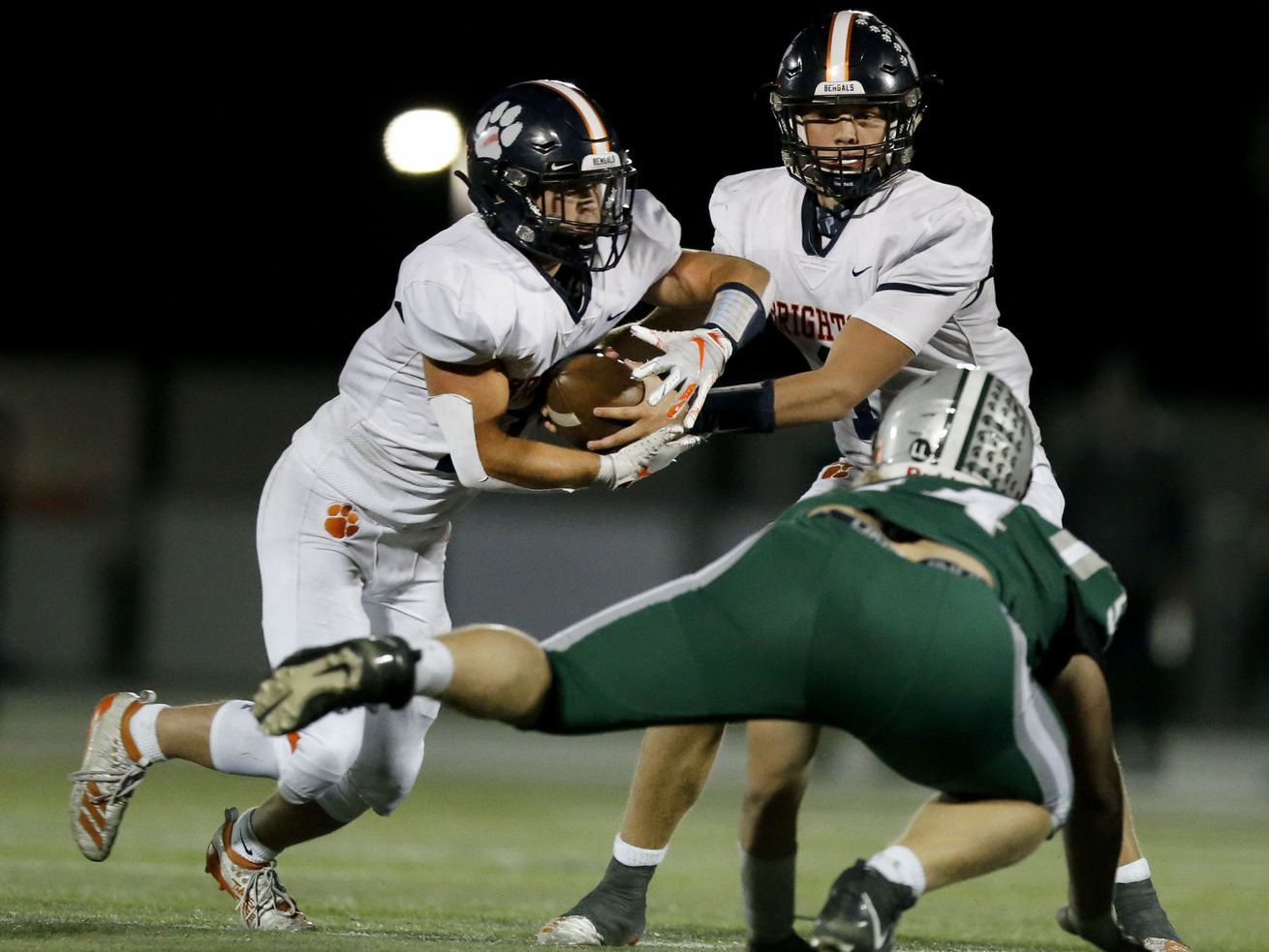 Action in the Brighton vs. Olympus football game at Olympus High School in Holladay on Friday, Sept. 11, 2020.