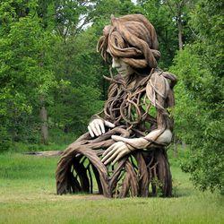 """Morton Arboretum sculpture """"UMI."""""""