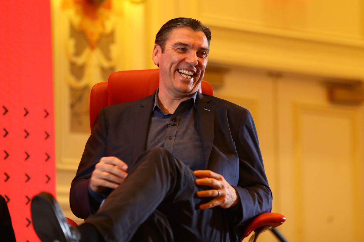 Tim Armstrong onstage at Code Commerce 2019 in Las Vegas.