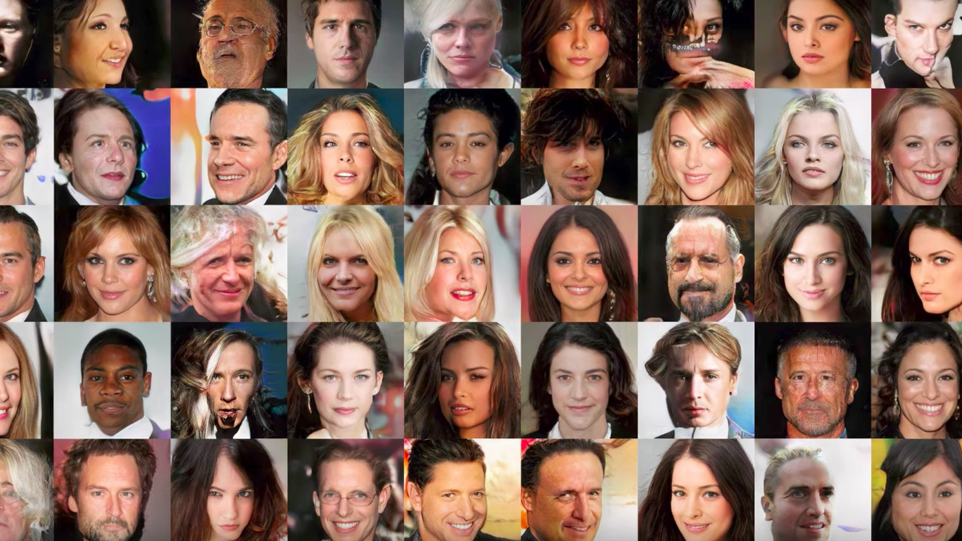 All of these faces are fake celebrities spawned by AI - The Verge