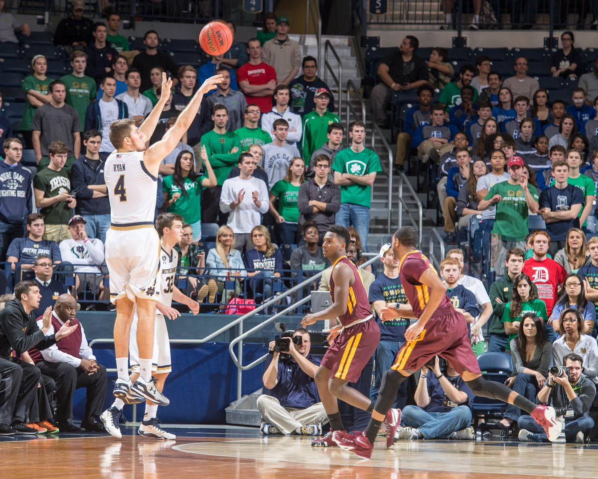 NCAA Basketball: Loyola-Chicago at Notre Dame