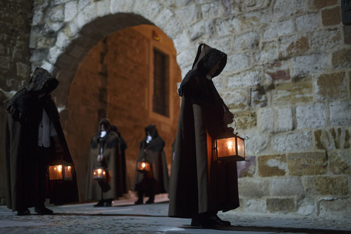 Holy Week Processions Are Held In Zamora