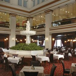 The store may have changed to Macy's, but the Walnut Room—a stately holdover from the long-ago days of Marshall Field's—remains. Opened around the turn of the century (the last one), the room still features the iconic marble fountain as its centerpiece an