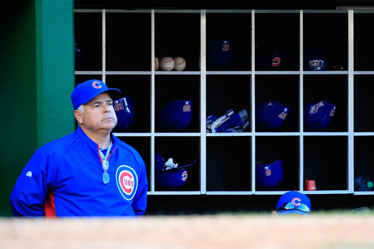 What is Rick Renteria thinking? Write your own caption.