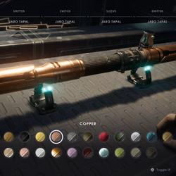 Copper lightsaber material