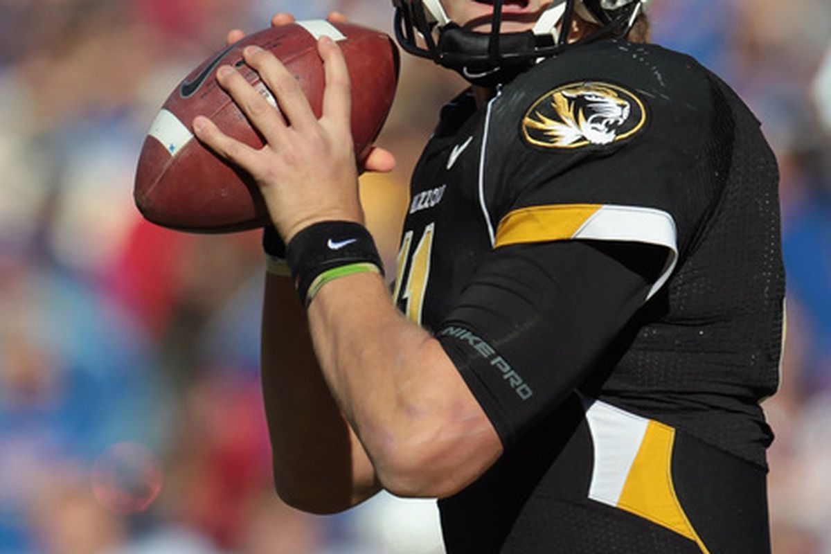 I'm placing the Missouri Tigers on upset alert tonight! However, judging from my previous bowl predictions I'd feel really good about that if I was a Tiger fan.  (Photo by Jamie Squire/Getty Images)
