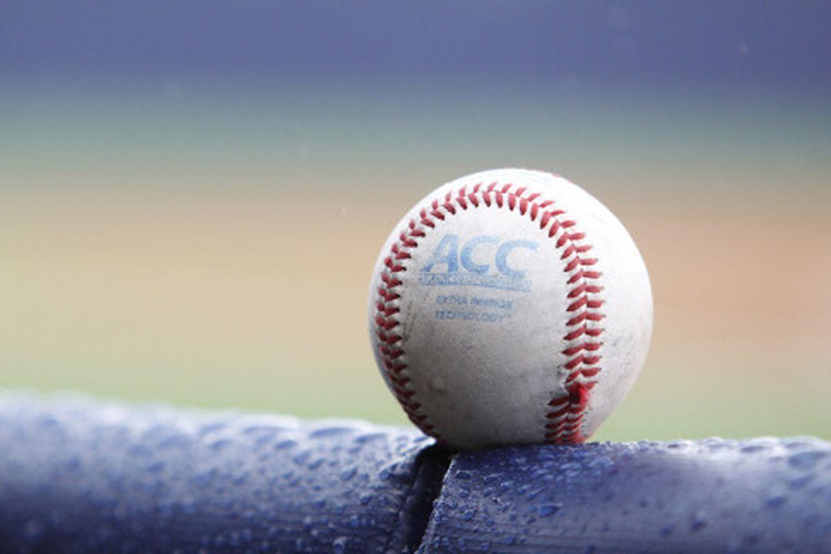 Baseball - ACC Logo Baseball on Field