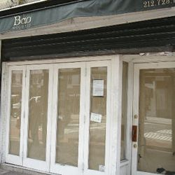 """The former Bao Noodles in Gramercy, becoming a Goodfellas Pizza. [Photo: <a href=""""http://www.pcvstbee.com/2013/04/goodfellas-pizza-is-coming-to-gramercy.html"""">pcvstBee</a>]"""