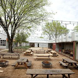 Chicken Scratch may have only been open six short months, but its vast courtyard shared with neighboring bar The Foundry has quickly wormed its way into the hearts of Dallas residents. From the corrugated metal structure of the restaurant itself to the wo