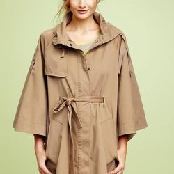 """<b>Gap</b> belted cape jacket, <a href=""""http://www.gap.com/browse/product.do?cid=5739&vid=1&pid=894090"""">$128</a>"""