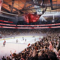 Interior seating bowl view for hockey