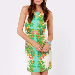 """<b>Lush</b> Planting Wishes Ivory Floral Print Dress, <a href=""""http://www.lulus.com/products/planting-wishes-ivory-floral-print-dress/92038.html"""">$44</a> at Pixie Market"""