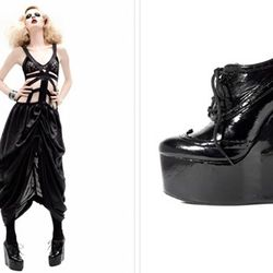 """<a href=""""http://penelopeandcoco.bigcartel.com/product/quincy"""" rel=""""nofollow"""">The Quincy</a> ($478) is the perfect patent platform to rock at that goth-themed bash you spontaneously RSVP'd for."""