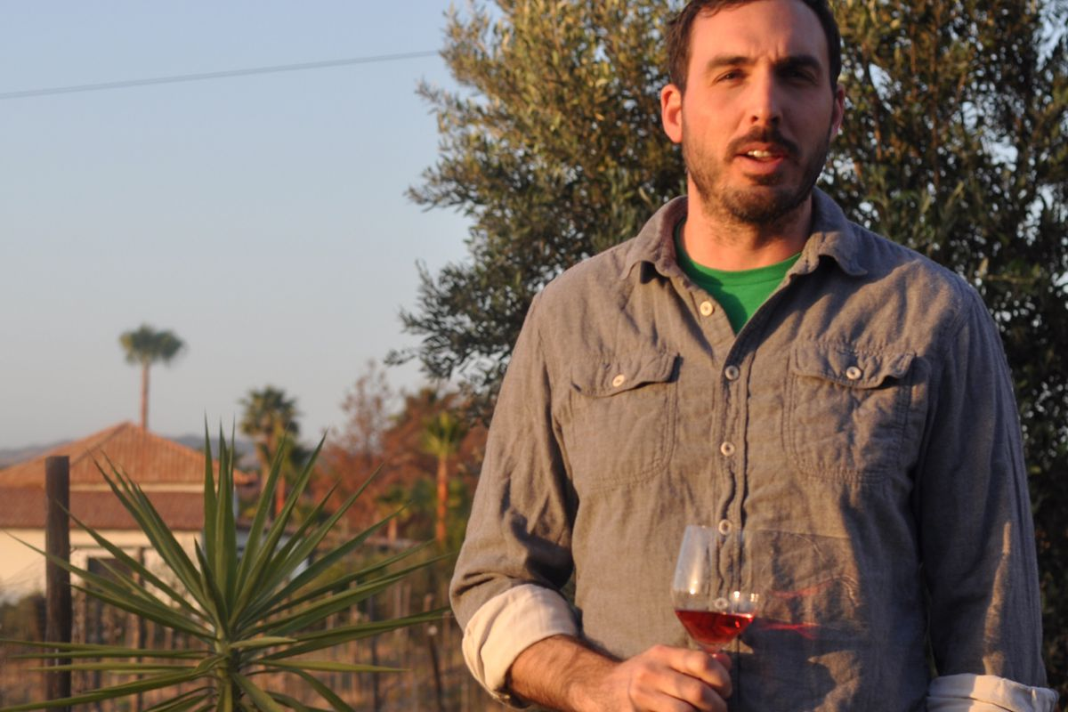 Krauss on a recent trip to Baja California's wine country.