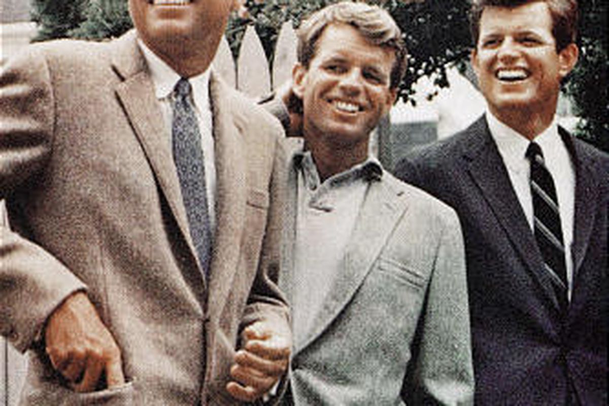 Ted Kennedy, right, who died this week, is shown here with his older brothers John F. Kennedy, left, and Robert F. Kennedy.