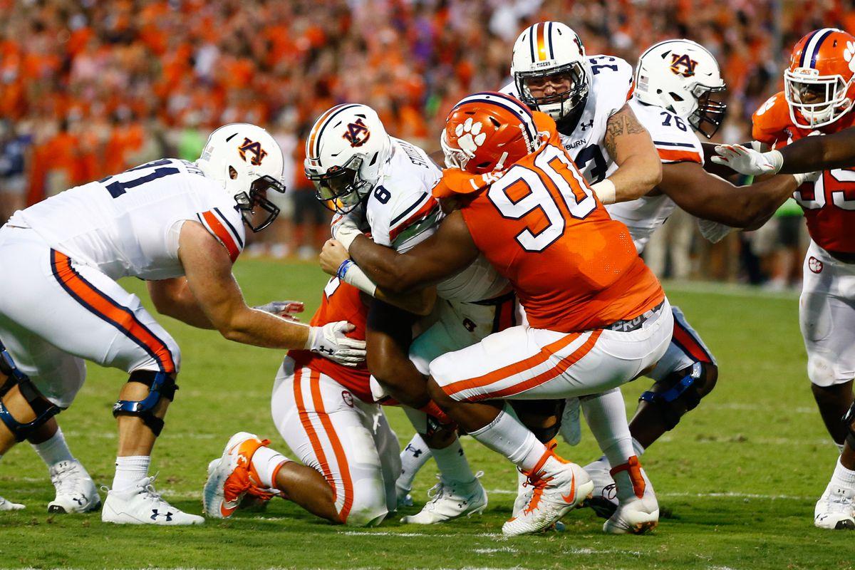 clemson football 2017 analyzing all 11 sacks against auburn