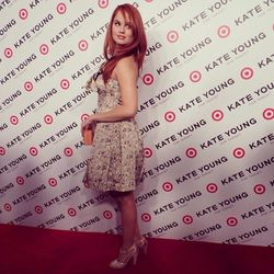 Debby Ryan in the strapless bow dress (gem city print), $59.99.