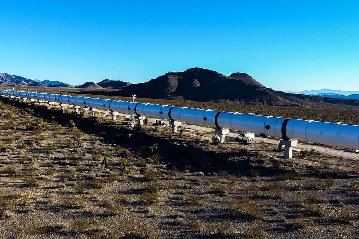 The Hyperloop One test track in Nevada.