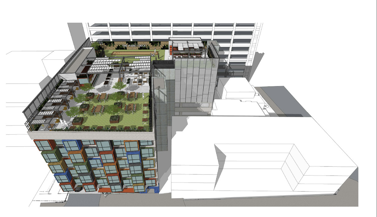 A rendering of a new residential building fitting in with the existing construction.