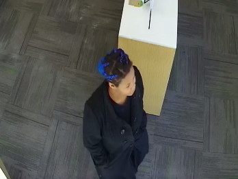 A woman was caught on camera when she tried unsuccessfully to rob a cellphone store earlier this month by slipping a note to an employee. | Chicago police