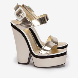 """I mean, can you even? Giuseppe Zanotti Mirrored Platform Sandal, $750 at <a href=""""http://www.intermixonline.com/product/giuseppe+zanotti+mirrored+platform+sandal.do?sortby=ourPicks&CurrentCat=110678"""">Intermix</a>."""