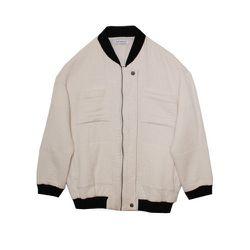 "<strong>Gat Rimon</strong> Timeo Bomber in Ecru, <a href=""http://miramirasf.com/collections/outerwear/products/gat-rimon-timeo-bomber-ecru"">$288</a> at Mira Mira"