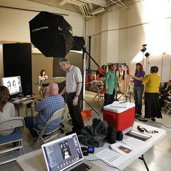 The LDS church photo services in the basement at the Joseph Smith Memorial Building for a special section on Hotel Utah's centennial Wednesday, May 18, 2011, above Salt Lake City, Utah.