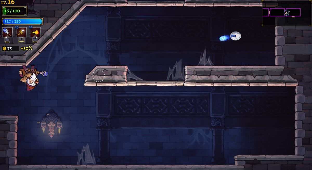 A screenshot from Rogue Legacy 2