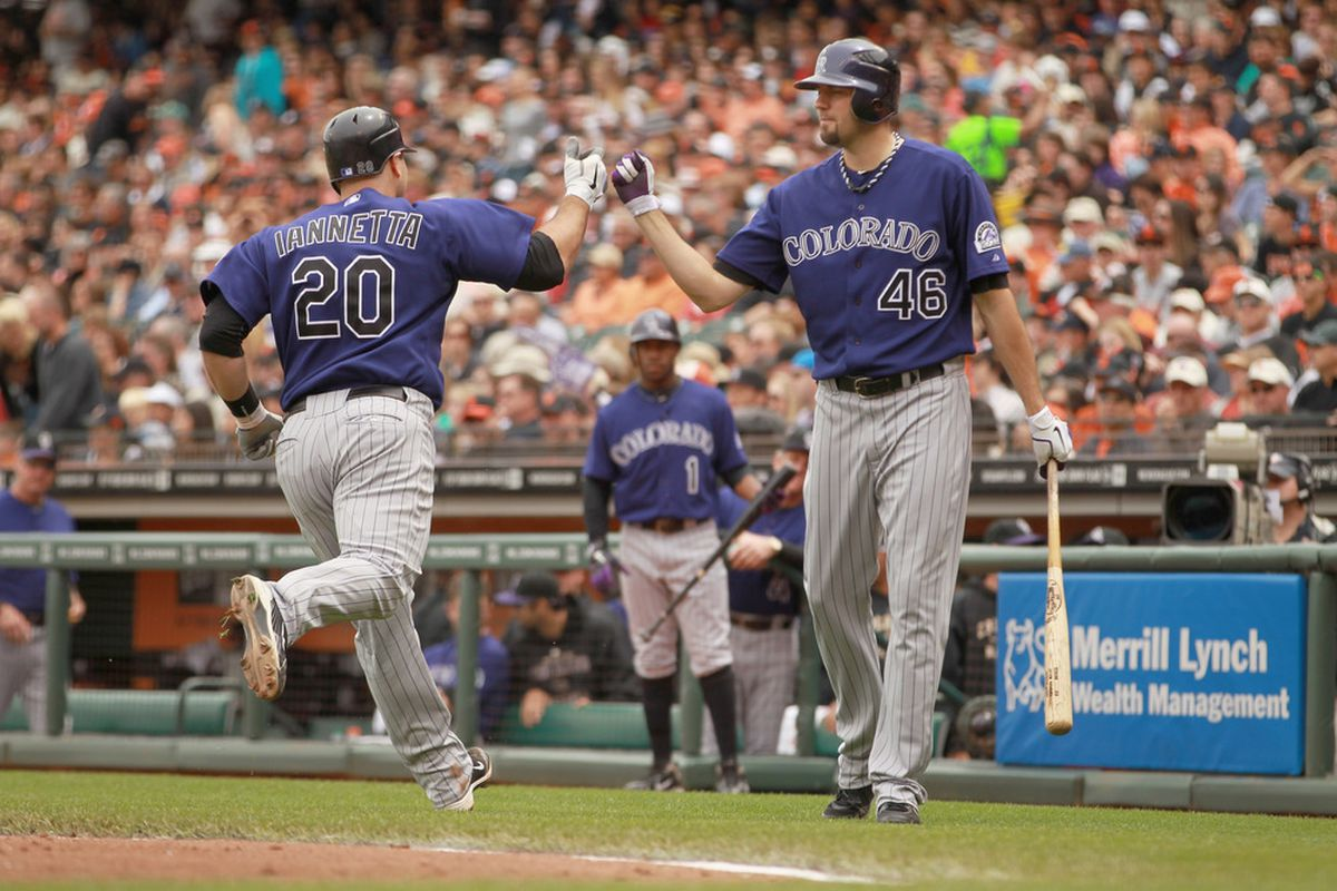 Here were the two people who did good things in today's game: Chris Iannetta and Jason Hammel