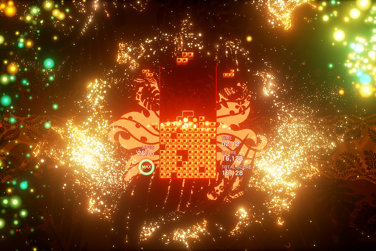 A level from Tetris Effect