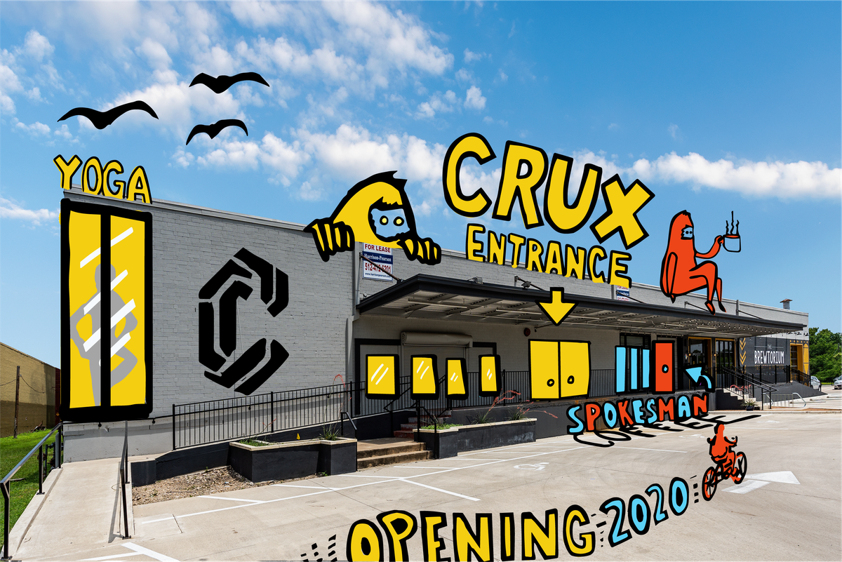 A rendering of Crux Climbing Center and where Spokesman will be found