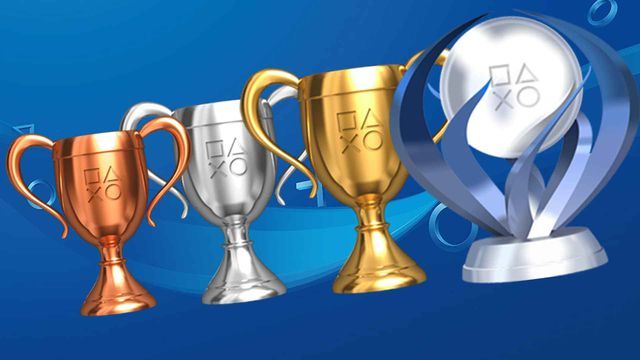 the four different trophies of the PlayStation Network trophy system