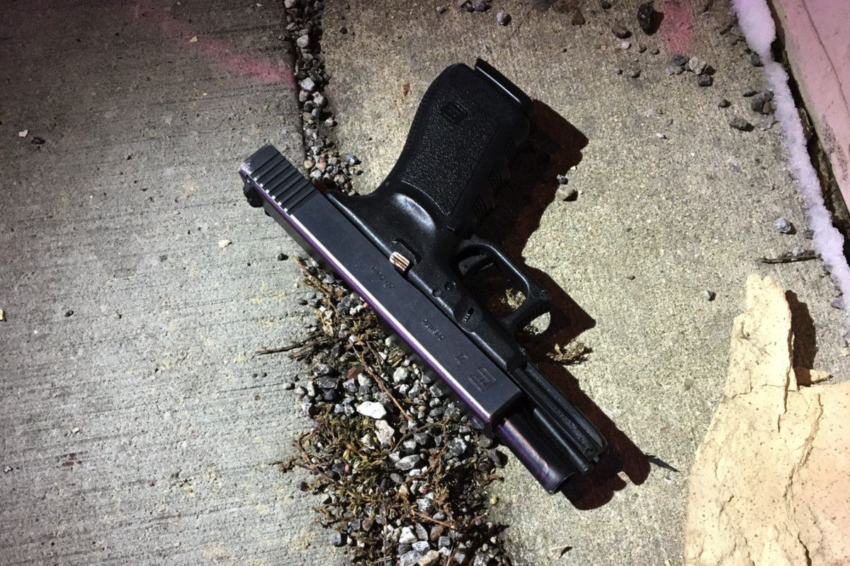 Police say this Glock handgun was used by Jason Nightengale in a Jan. 9 shooting rampage that left five people dead.