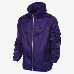 """<strong>Nike</strong> Windrunner Packable Jacket  in Purple/Black, <a href=""""http://store.nike.com/us/en_us/pd/windrunner-packable-jacket/pid-776827/pgid-776826"""">$100</a>"""