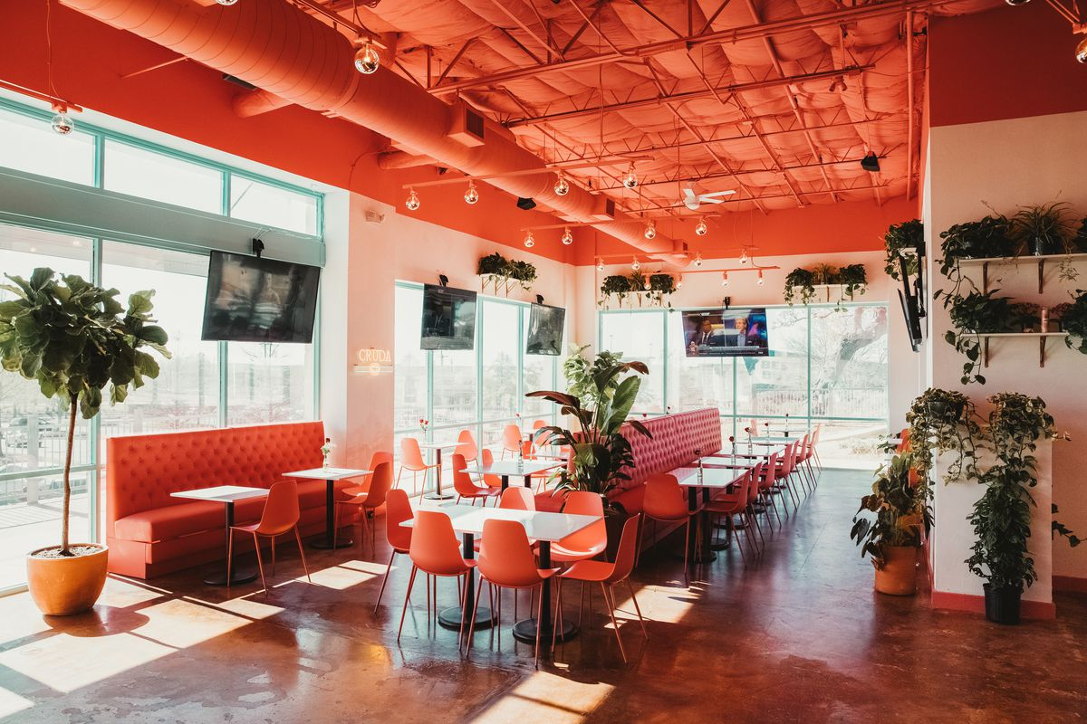 The dining room at Gabriela's South Austin location