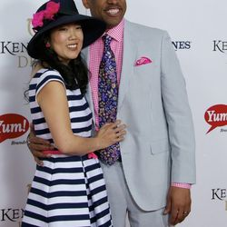 """""""Waiting for Superman"""" star Michelle Rhee and her husband, retired NBA and current mayor of Sacramento, Kevin Johnson."""