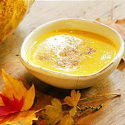 """Golden Squash Soup, recipe below, is made from banana squash and has a couple of apples to """"sweeten it up."""""""