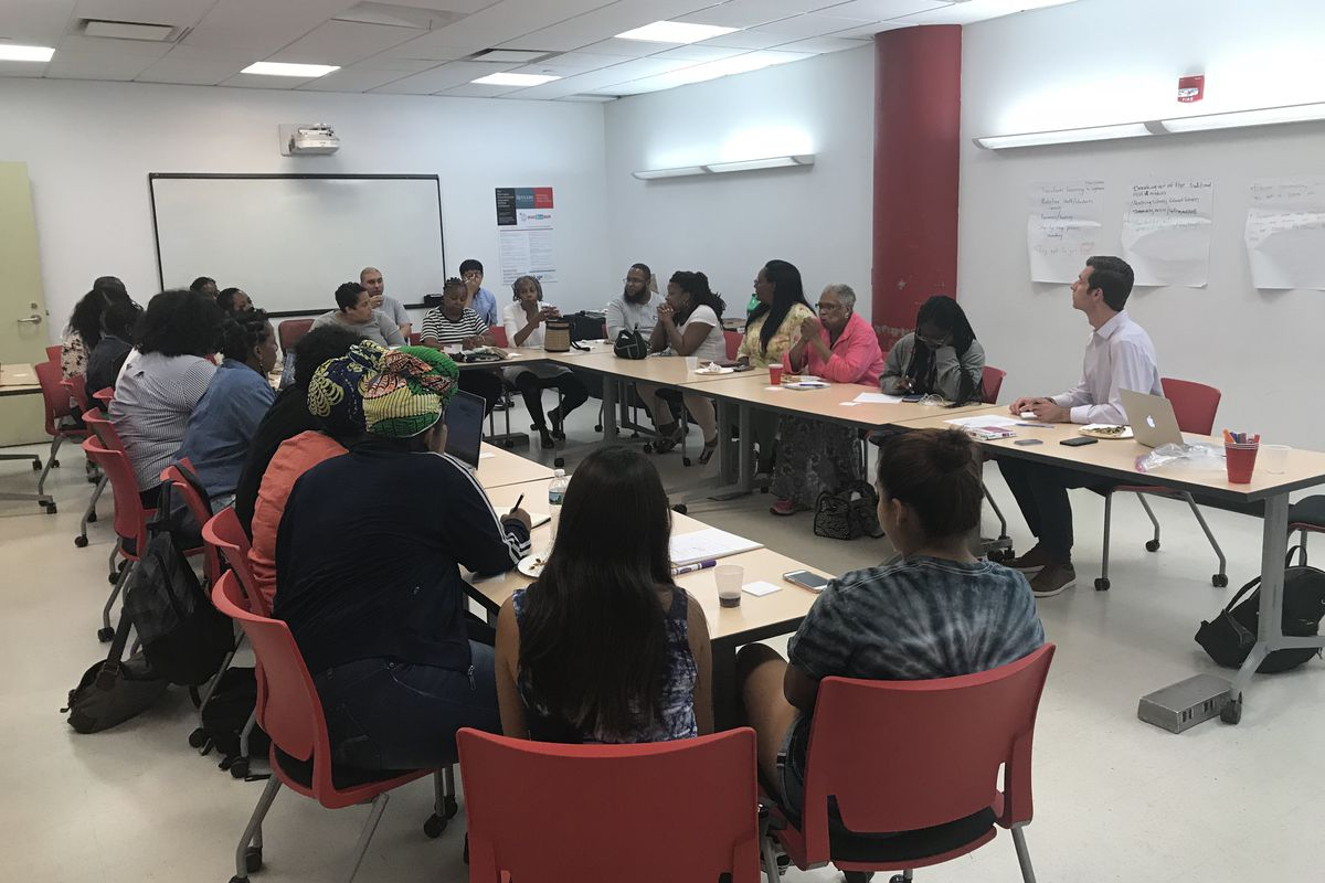 A Chalkbeat Newark focus group in 2018. The nonprofit news organization will add a new reporter in June.