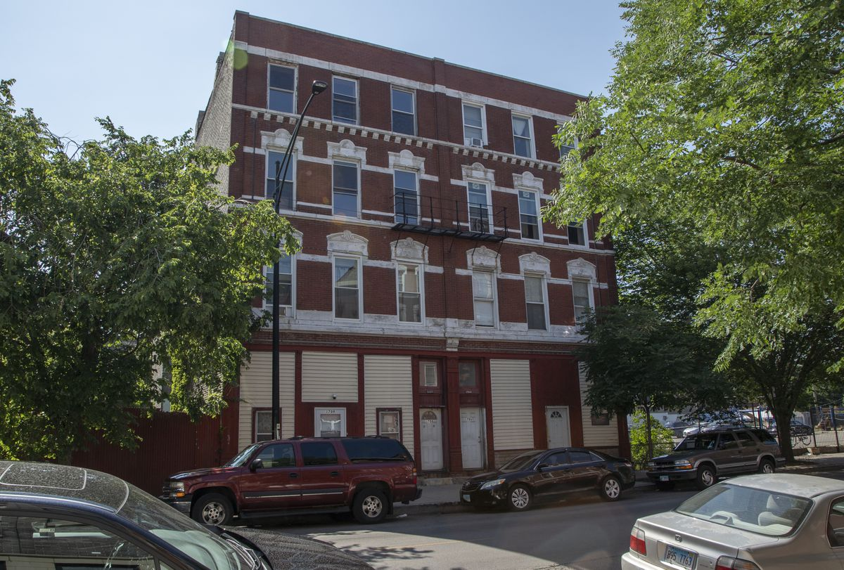 Mary Lou Aguilar, 89, has been stripped of her senior assessment freeze and other exemptions on the multi-unit apartment building in the 1700 block of South Racine Avenue in Pilsen.