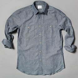 """<b>William Gray</b> """"The Braddock"""" Chambray Shirt (made in New England), <a href=""""http://williamgray.com/collections/all/products/the-braddock"""">$125</a>"""