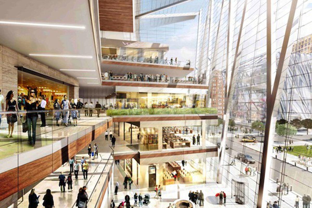 "Hudson Yards retail atrium rendering via <a href=""http://www.hudsonyardsnewyork.com/shopping-dining/fashion-collection"">hudsonyardsnewyork.com</a>."