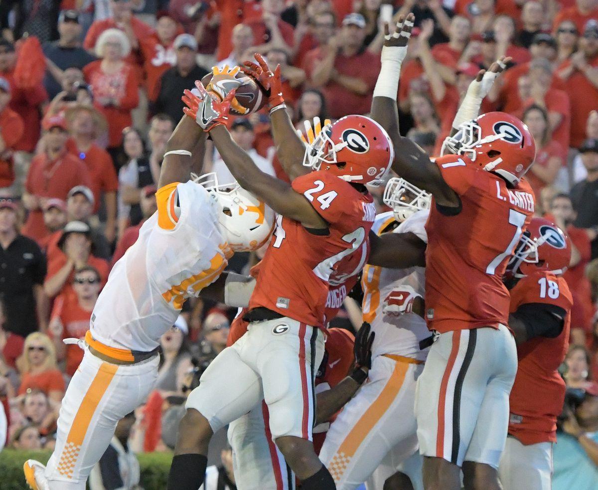 NCAA Football: Tennessee at Georgia