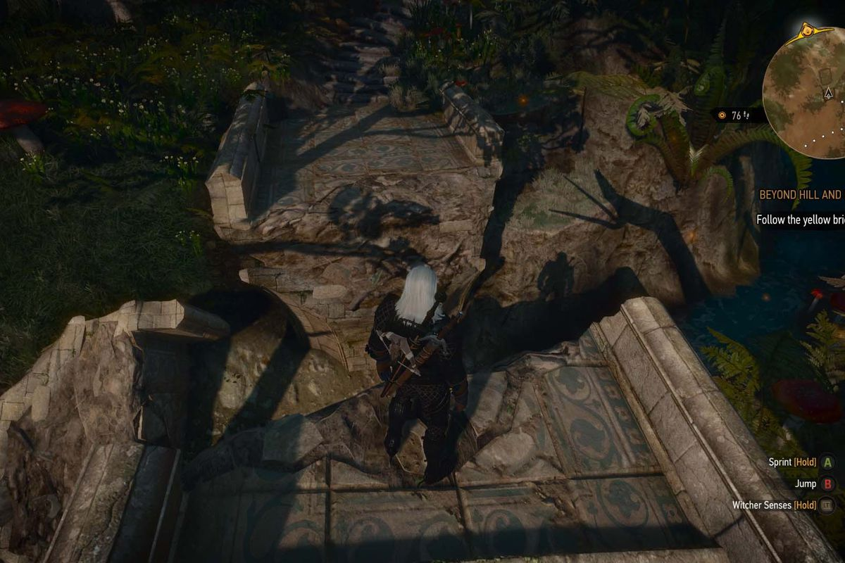 The witcher 3 blood and wine walkthrough beyond hill and dale this quest will literally put geralt in a fairy tale make your way through the strange wonderland stick to the paths the minimap wont be much help in solutioingenieria Image collections