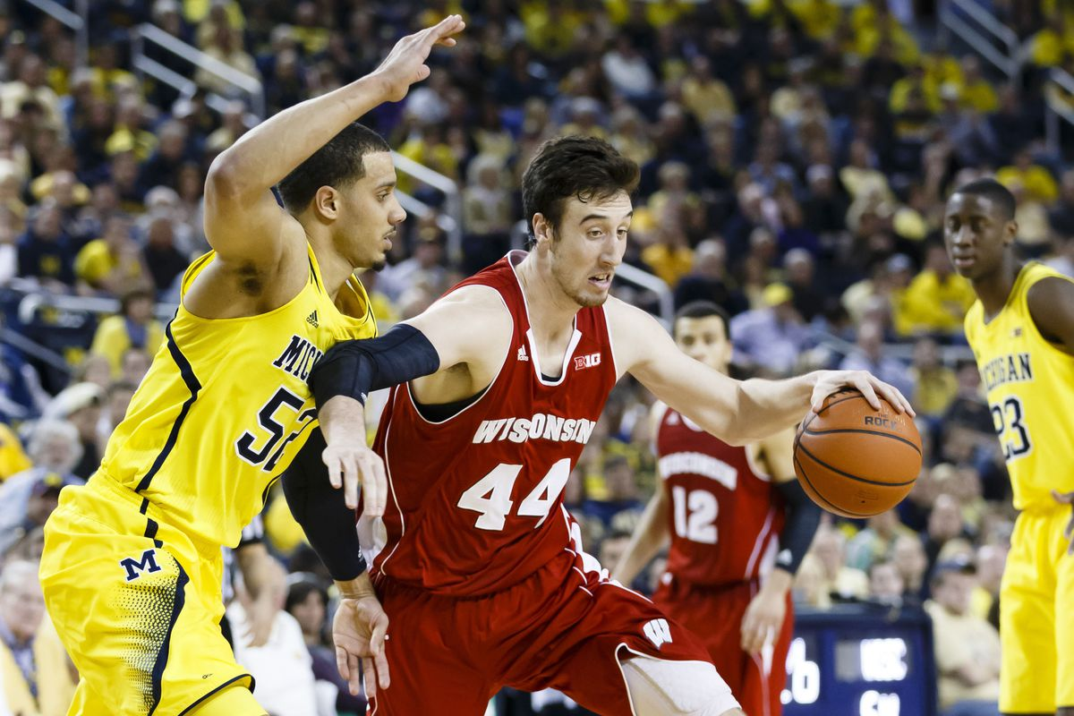 Frank Kaminsky led Wisconsin to a victory in Ann Arbor on Sunday.