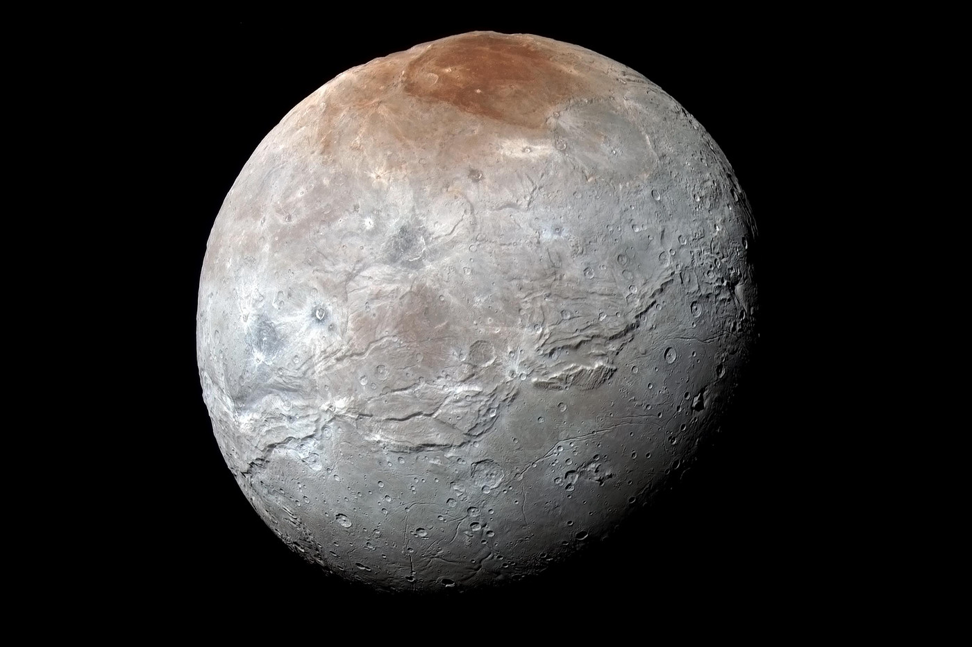 NASA shows off a stunning new color photo of Pluto's moon, Charon - The  Verge