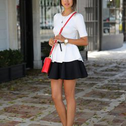 """Annabelle of <a href=""""http://vivaluxury.blogspot.com"""">Viva Luxury</a> is wearing a Torn by Ronny Kobo top, a <a href=""""http://thefashionbunker.com/Products/Shop%20By%20Style/skirts/Mad_World_Skirt_-BLACK__CX13031313SK-B.aspx"""">Mad World</a> skirt, <a href="""""""