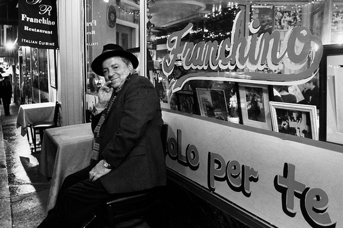 Franchino himself outside Franchino Restaurant in North Beach.