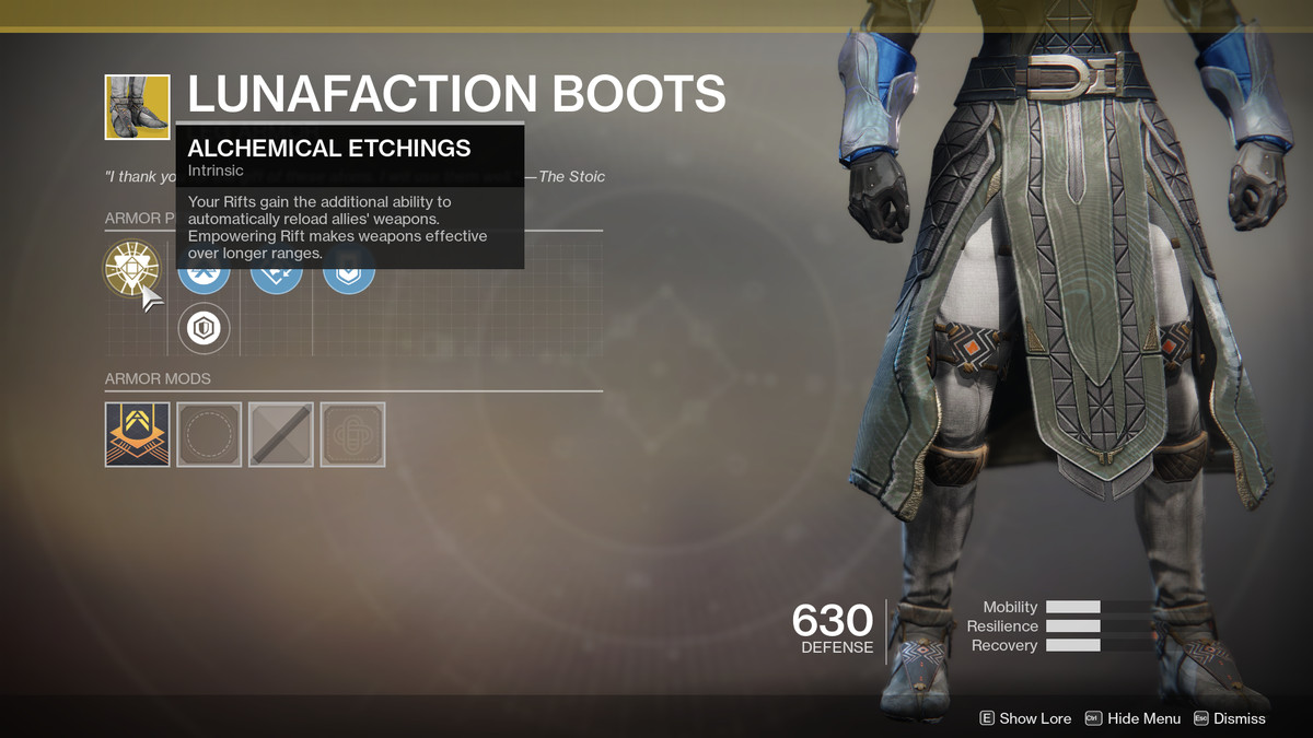 Lunafaction Boots Exotic Destiny 2